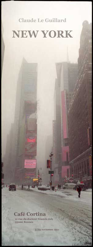 exhibition of claude_le_guillard's photographies of New York, café Cortina, Rennes