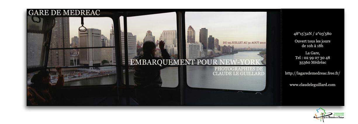 exhibition of claude_le_guillard's photographies of New York, at the railway station of médréac