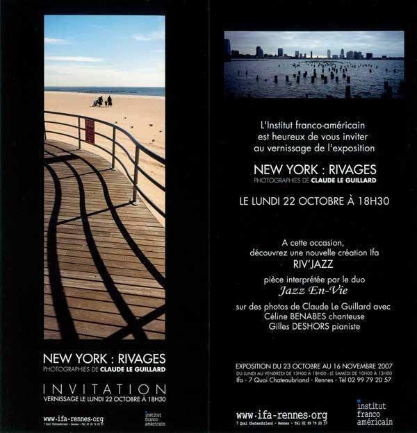 New York waterfront, exhibition of claude le guillard's photographies at the franco-american Institute in Rennes